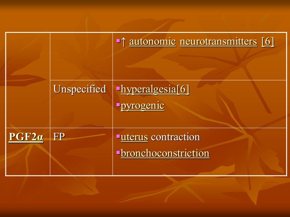 ↑ autonomic neurotransmitters [6]